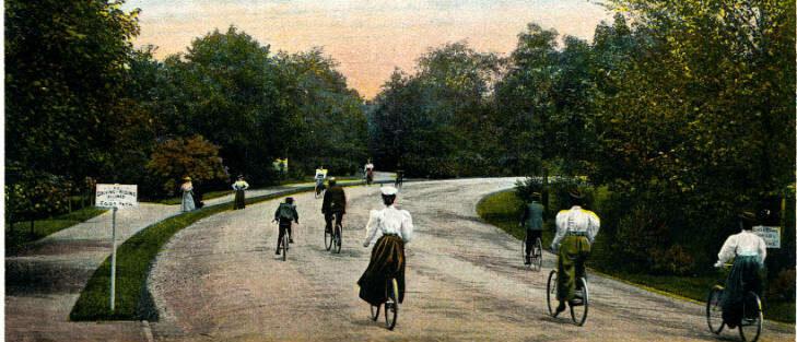 Bicycles in Delaware Park